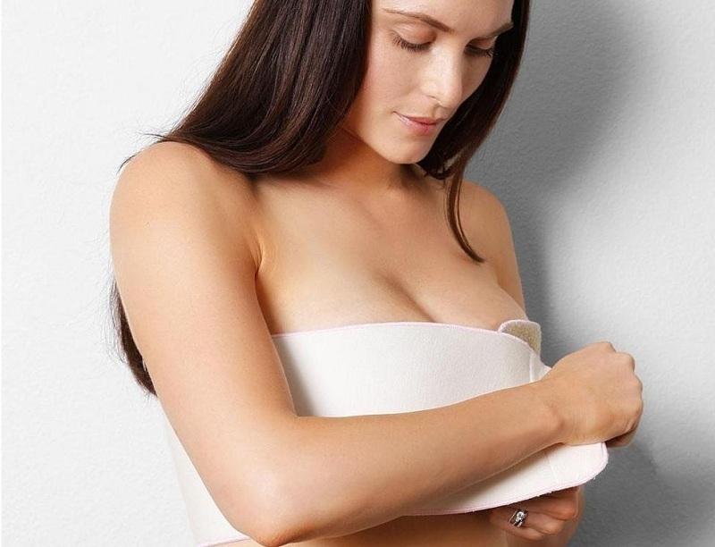 Перетягивание груди для прекращения лактации