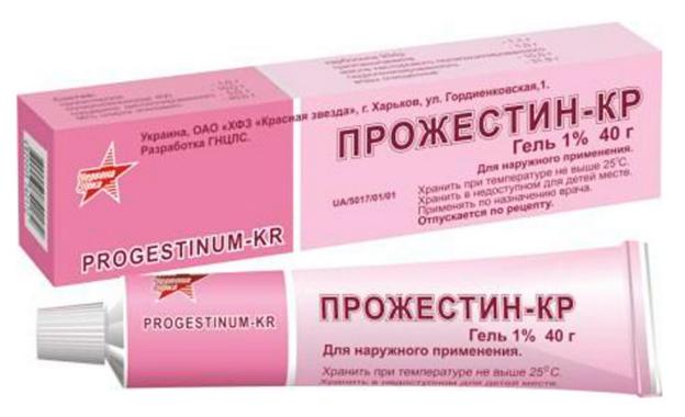 Гель «Прожестин-КР» от мастопатии