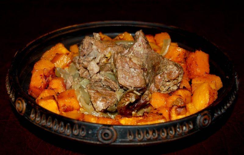 Запеканка с тыквой и мясом