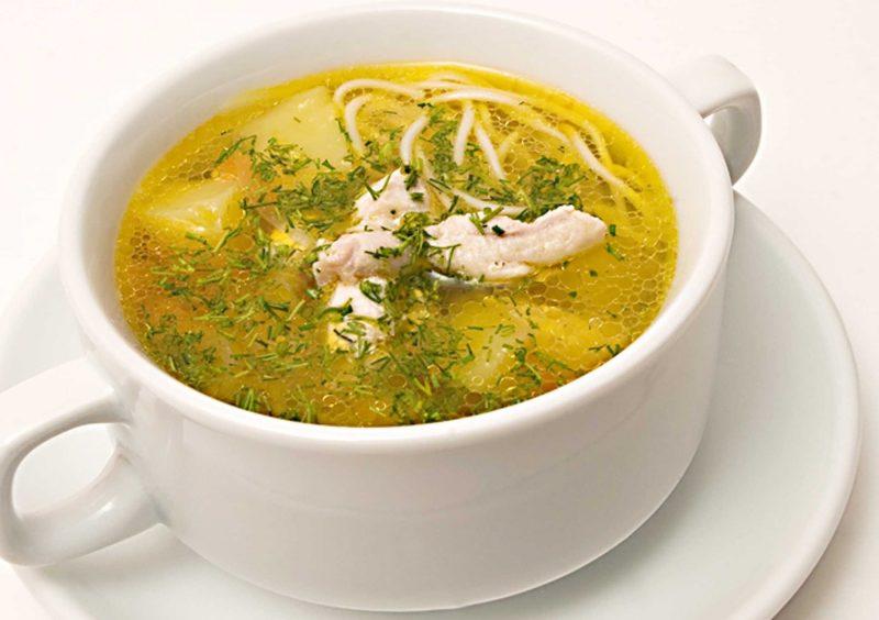 Куриный суп с лапшой при гв