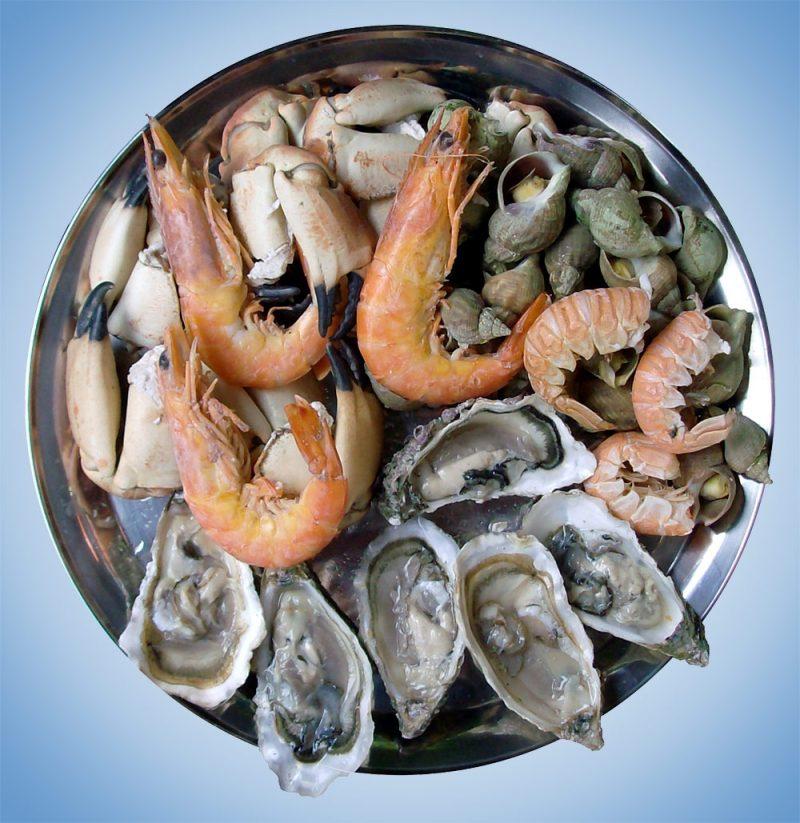 Креветки и морепродукты при гв